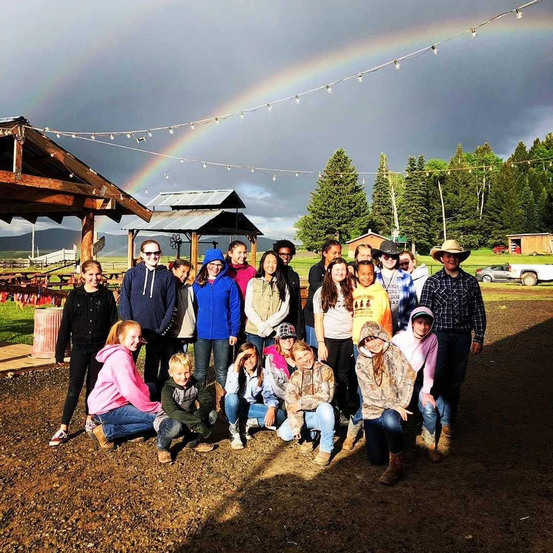 meadow vue ranch horse camp group picture