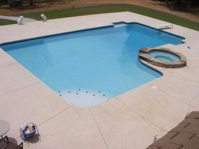 The Home Pool is a year-round pool heated to 90 degrees. It is enclosed for the winter months.