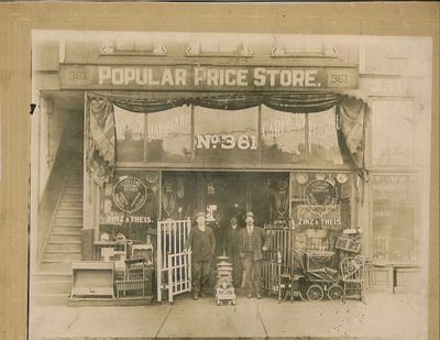 Original Zinz & Theis Popular Price Store, Youngstown, Oh (Est. 1915)