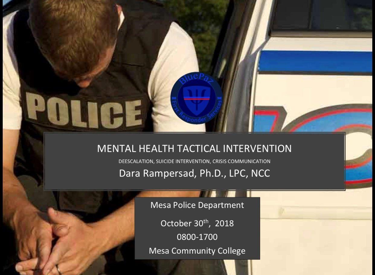 BluePaz Mental Health Tactical Training