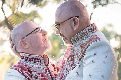 John & Phillippe by Love is Love Photography - exclusive Montsalvat same sex wedding photographer