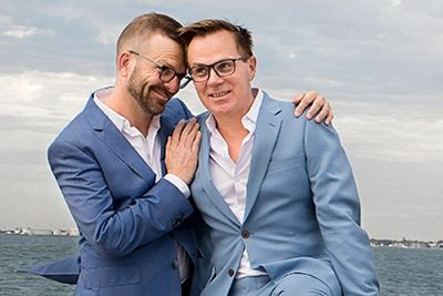 Craig & De Villiers by gay wedding photographer in Melbourne - Love is Love Photography