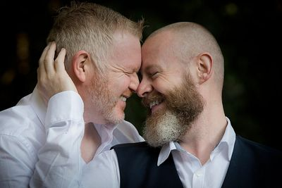 Sam & David - same sex wedding photographer at Mount Macedon, Victoria by Love is Love Photography
