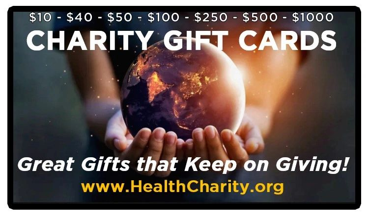 Charity gift cards Charity gift certificates Healthy Charity HealthyCharity BIG Uganda Africa