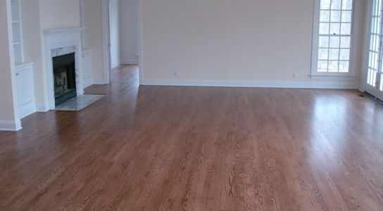 Red Oak Flooring with Satin Polyurethane Finish.