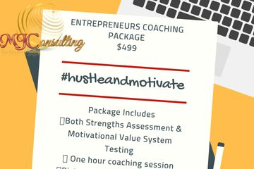#hustleandmotivate entrepreneurs coaching package with Charisse