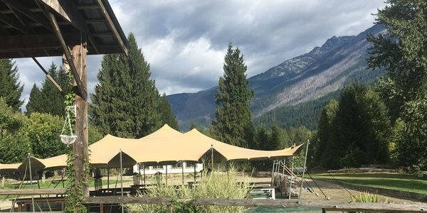 Pemberton Wedding's Riverside Arena provides additional capacity and area