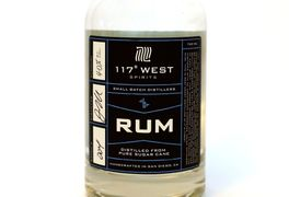 117 West White Rum is fermented from 100% sugar cane with Champagne yeast making for a very light an