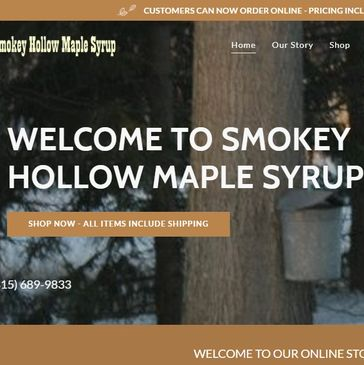 website design for Smokey Hollow Maple Syrup