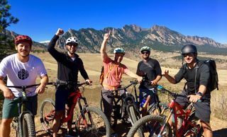 Mountain bike guided tours and adventures for bachelor party and bachelorette party in Boulder Colorado