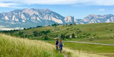 Some of the best views of The Flatirons in the whole area! Amazing singletrack with lots of wildlife