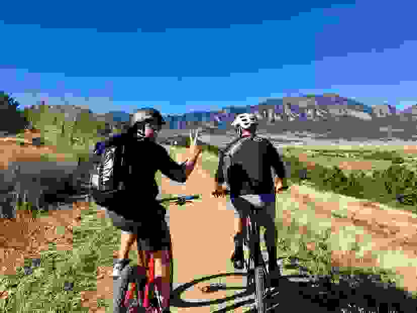 Mountain bike trails in Colorado