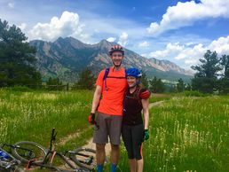 Enjoy a couples bike ride with your spouse or partner with mountain trails that will accomodate both of you