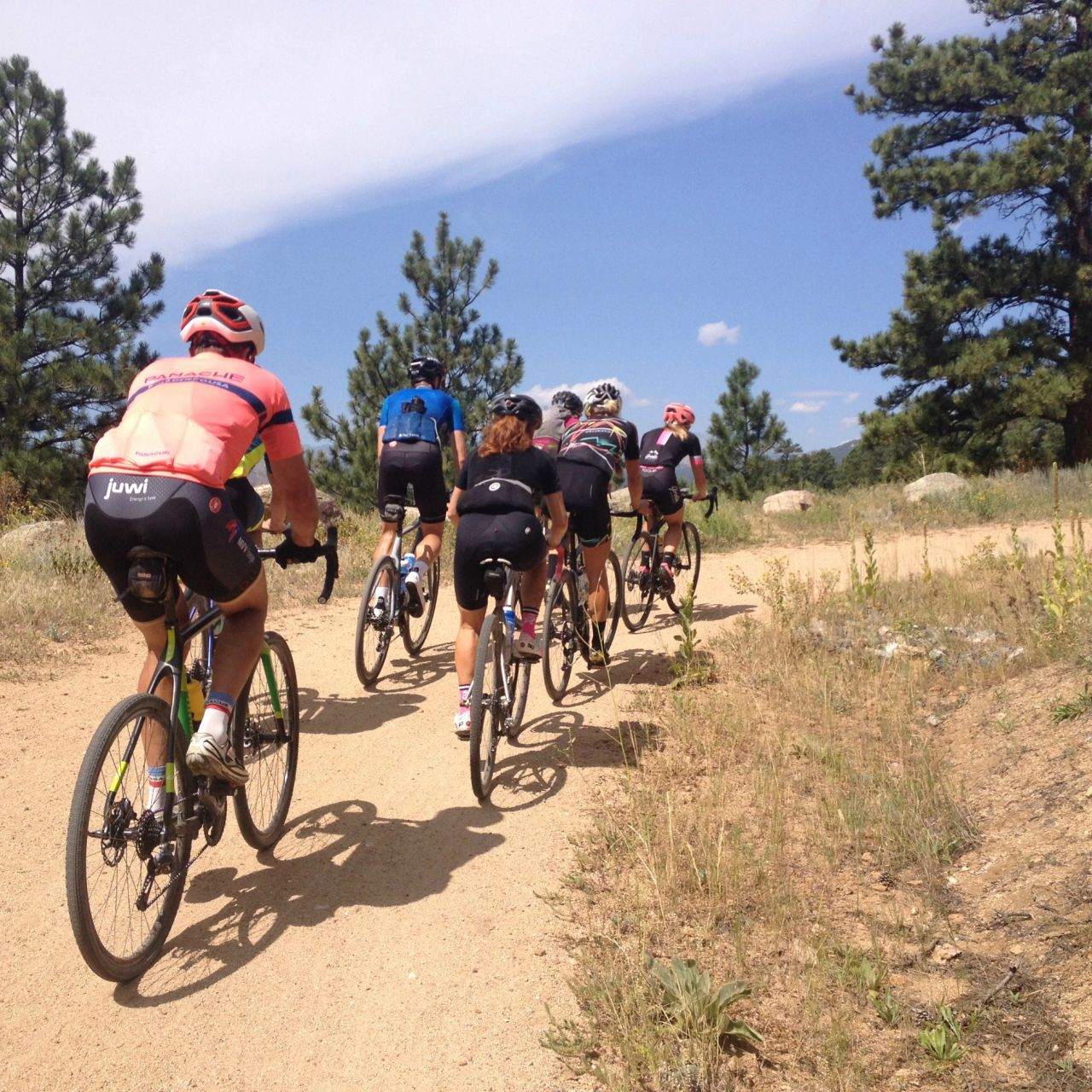 Climbing one of many amazing gravel roads in Boulder, Colorado!