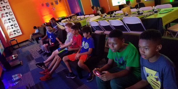 Video Game Birthday party at AFC, Video game party. Video gaming party at AFC gaming center