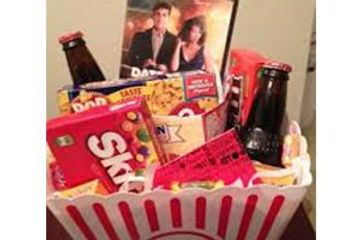 Dinner & Movie gift basket