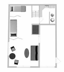 lower level layout of vacation rental for planning