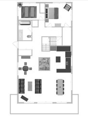 main level of vacation rental layout for planning