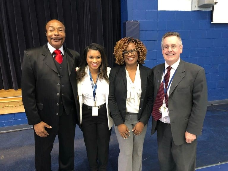 (From Left to Right) Mr. Hall, Director of Edison Job Corps; Ms. Gibson and Mr. Staynings