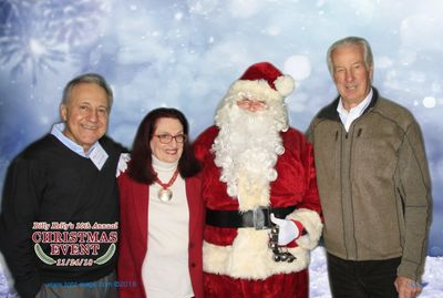 Kay with 3 VIPs! RedSox stars Rico Petrocelli and Jim Lonborg, plus Santa!