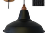 Black Shade - Rustic Lampholder & Ceiling Rose - Black Twisted Flex 1m - £120 - Other combinations available.
