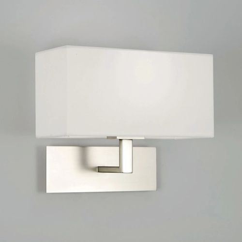 Oxford lighting showroom wall lights lighting oxford lighting park lane wall light in matt nickel with white shade guide price 75 aloadofball Gallery