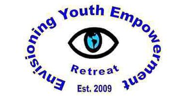 The Envisioning Youth Empowerment Retreat logo, which has an eye with the world map in it.