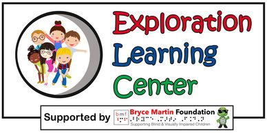 The Exploration Learning Center logo, which has six kids smiling together.