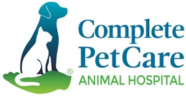 The Complete Pet Care Animal Hospital logo, which has a cat and a dog next to each other.