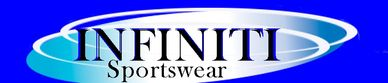 The Infiniti Sportswear logo, which is on a bright blue background.