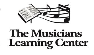 The Musicians Learning Center logo, which has music notes coming from sheet music.