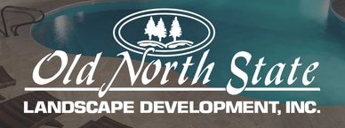 "The Old North State logo, which has a pool and says ""landscape development inc."""