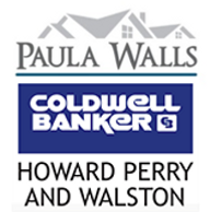 The Paula Walls Coldwell Banker logo, which shows a house.