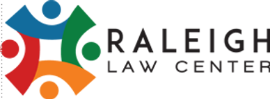 The Raleigh Law Center logo, which has four people holding hands.