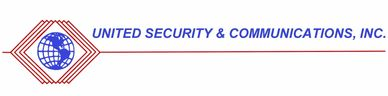 The United Security and Communications Incorporated logo, which has a blue globe in a red diamond.