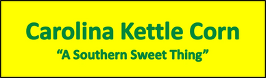 "The Caroline Kettle Corn logo, which has ""A Southern Sweet Thing"" on it."
