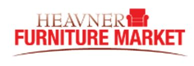 The Heavner Furniture Market logo, which has a bright red chair.