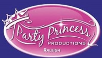 The Party Princess Productions Raleigh logo, which has a princess crown on it.