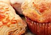 Savory croissant and muffin