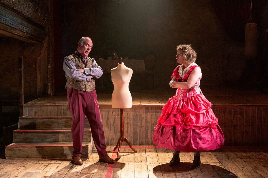 Professor Charlie Sharp in THE SWEET SCIENCE OF BRUISING at Wilton's Music Hall with Fiona Skinner