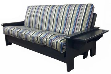 Canadian made solid wood futon frames in a large selection of sizes and finishes.