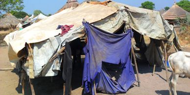 Poor living conditions in refugee camp