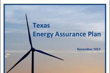 Cover of Texas Energy Assurance Plan 2012