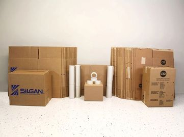 Used moving box packages