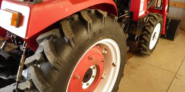 True Goo Tire Sealant. Small or Compact tractors are 16 oz/tire front and 64 oz/tire rear