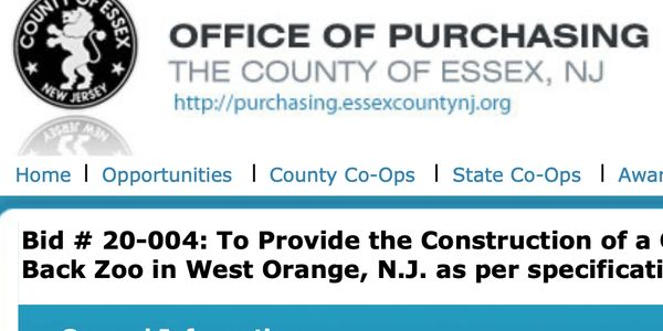 Essex County New Jersey Office of Purchasing Open Bid Amphitheater at Turtle Back Zoo