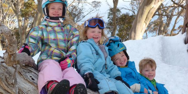 kids outside Valhalla Lodge Perisher