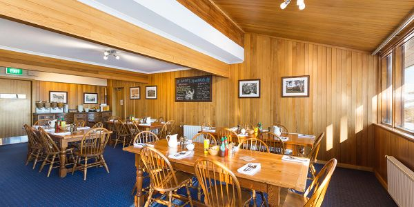 Valhalla Lodge dining room, breakfast time, Perisher Valley
