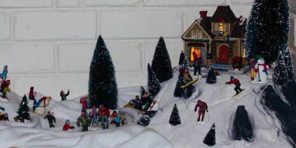 Lemax Village Display Yulefest at Perisher Valley Christmas in July