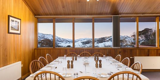 Valhalla Lodge dining room, part of views, small table configuration